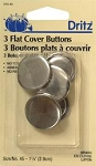 Flat Cover Buttons, Dritz 1 1/8