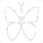 Laundry Basket Butterflies Template