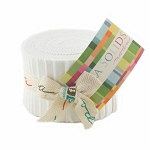 Bella Solid Junior Jelly Roll, White