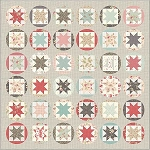 Hello Sun Quilt Kit, Poetry Prints by 3 Sisters for Moda
