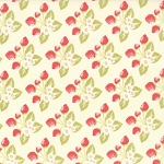 Strawberry Field Revisited, Cream,   by Fig Tree Quilts for Moda