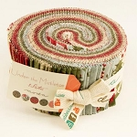Under the Mistletoe Jelly Rolls, by 3 Sisters for Moda Fabric
